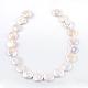 Flat Round Natural Baroque Pearl Keshi Pearl Beads StrandsUK-PEAR-R015-16-2