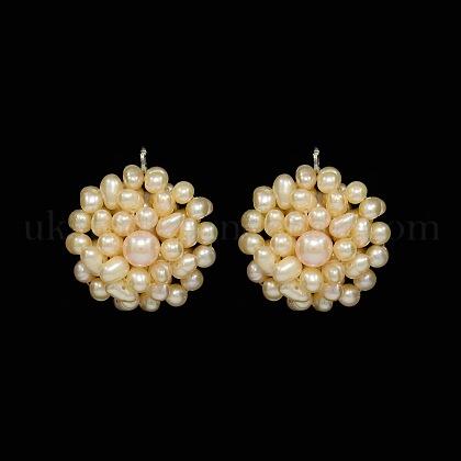 Natural Cultured Freshwater Pearl PendantsUK-PEAR-N005-02C-K-1