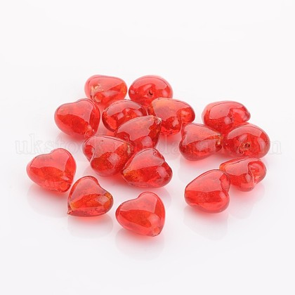 Valentine Gifts for Her Ideas Handmade Silver Foil Glass BeadsUK-FOIL-R050-12x8mm-1-1