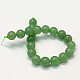 Natural Green Aventurine Beads StrandsUK-G-G099-8mm-17-1