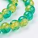 Spray Painted Crackle Glass Beads StrandsUK-CCG-Q002-10mm-07-K-3