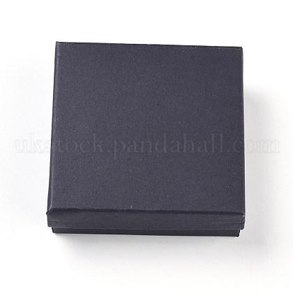 Kraft Cotton Filled Cardboard Paper Jewelry Set BoxesUK-CBOX-G015-05-1