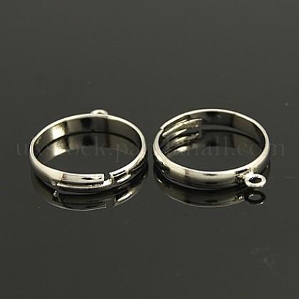Brass Loop Ring BasesUK-EC159-1