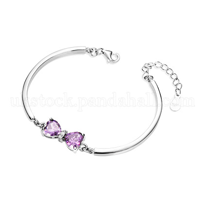 SHEGRACE Charming Sterling Silver Link BraceletsUK-JB79A-K-1