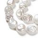 Natural Baroque Pearl Keshi Pearl Beads StrandsUK-PEAR-K004-33-3