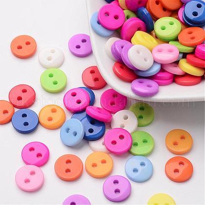 Flat Round 2-Hole ButtonsUK-FNA1494-1