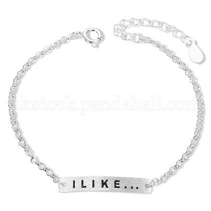 SHEGRACE Simple Fashion Sterling Silver Link BraceletsUK-JB42A-K-1