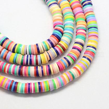 Handmade Polymer Clay BeadsUK-X-CLAY-R067-4.0mm-M1-1