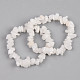 Unisex Chip Natural Moonstone Beaded Stretch BraceletsUK-BJEW-S143-46-1