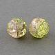 Spray Painted Crackle Glass Beads StrandsUK-CCG-Q002-10mm-05-K-1