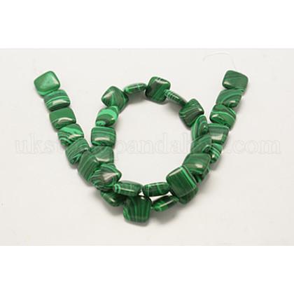 Synthetic Malachite Beads StrandUK-G-Q640-K-1