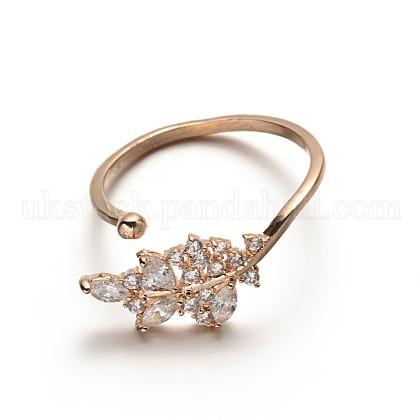 Brass Rhinestone Finger RingsUK-RJEW-E040-08G-K-1