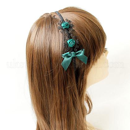Bowknot & Flower Iron Hair Bands JewelryUK-X-OHAR-N0006-027-1