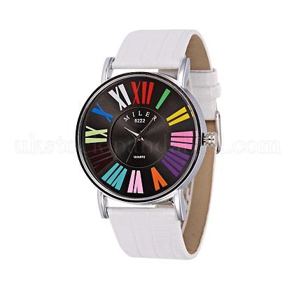 Fashionable Women's Alloy PU Leather Quartz WristwatchesUK-WACH-L025-01B-K-1