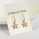 Star 304 Stainless Steel Dangle EarringsUK-EJEW-O040-03RG-K-2